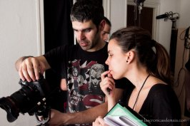 Checking the shot with the Script